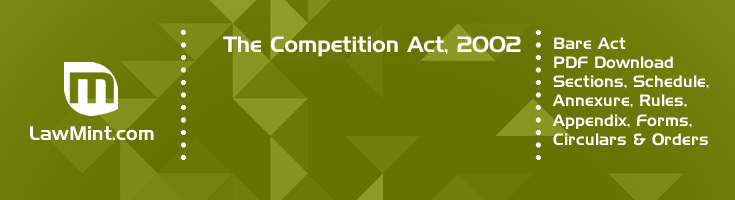 The Competition Act 2002 Bare Act PDF Download 2
