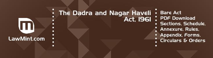 The Dadra and Nagar Haveli Act 1961 Bare Act PDF Download 2