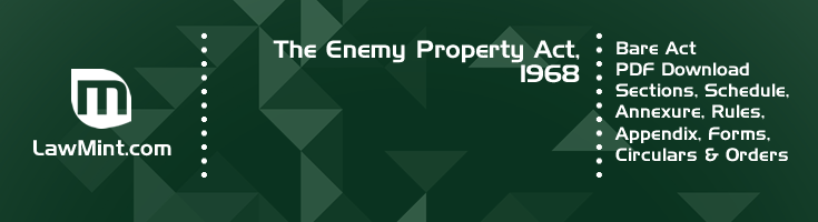 The Enemy Property Act 1968 Bare Act PDF Download 2