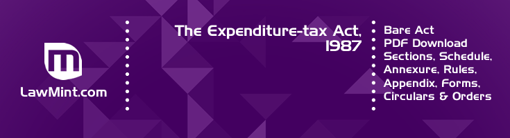 The Expenditure tax Act 1987 Bare Act PDF Download 2
