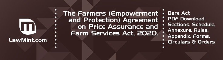 The Farmers Empowerment and Protection Agreement on Price Assurance and Farm Services Act 2020 Bare Act PDF Download 2