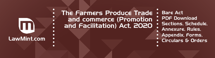 The Farmers Produce Trade and commerce Promotion and Facilitation Act 2020 Bare Act PDF Download 2