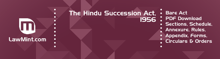 The Hindu Succession Act 1956 Bare Act PDF Download 2