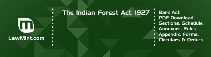 The Indian Forest Act 1927 Bare Act PDF Download 2