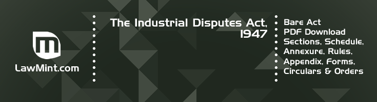 The Industrial Disputes Act 1947 Bare Act PDF Download 2