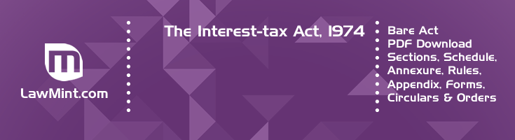 The Interest tax Act 1974 Bare Act PDF Download 2