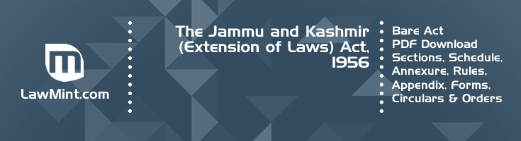 The Jammu and Kashmir Extension of Laws Act 1956 Bare Act PDF Download 2