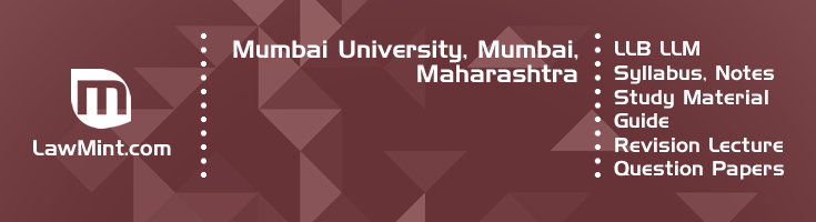 Mumbai University LLB LLM Syllabus Revision Notes Study Material Guide Question Papers 1
