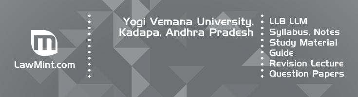Yogi Vemana University LLB LLM Syllabus Revision Notes Study Material Guide Question Papers 1