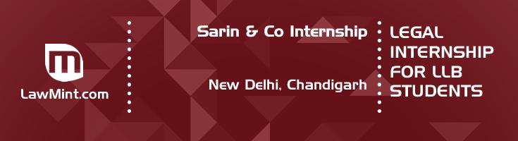 sarin and co internship application eligibility experience new delhi chandigarh