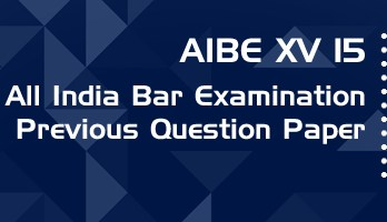 AIBE XV 15 Previous Question Paper Mock Test Model Paper Series
