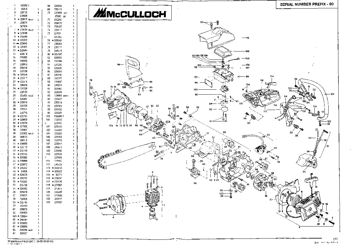 Mcculloch Mac 930 930 940 California 90 Daytona 900