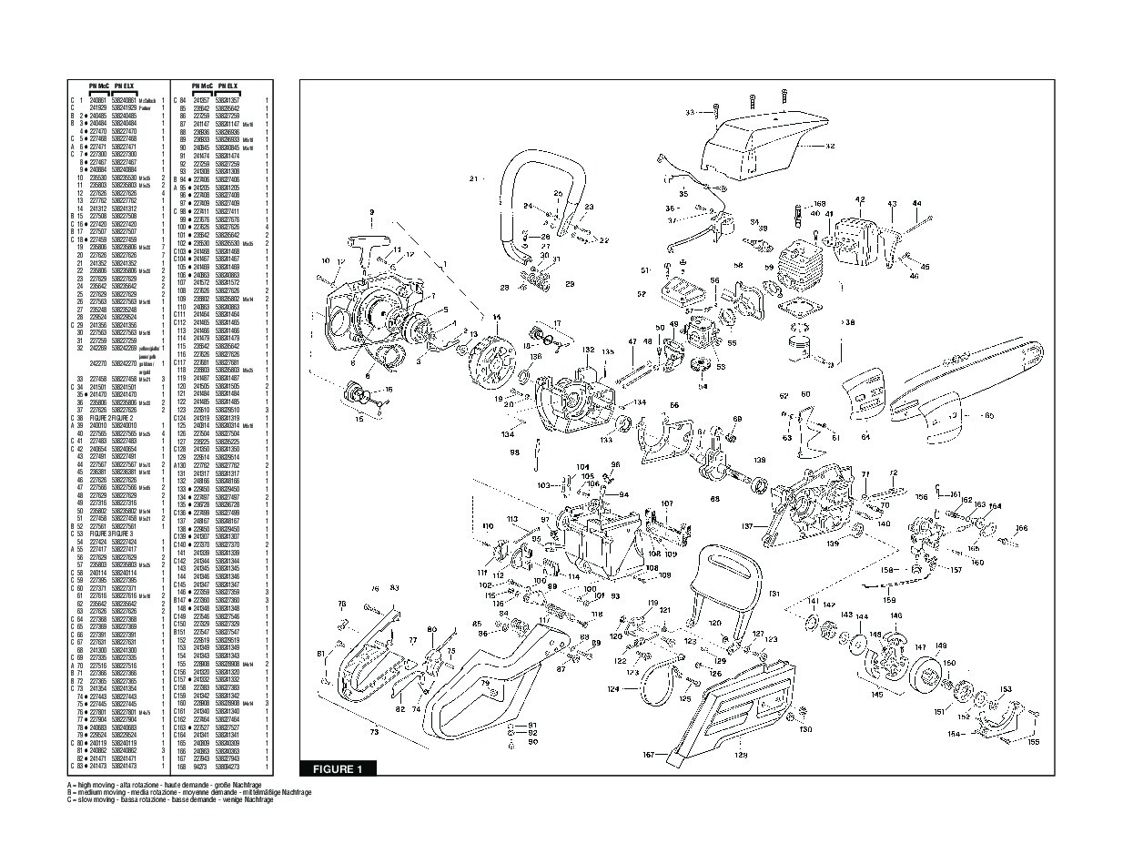 mcculloch pro mac 610 parts manual