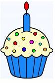 Cupcake - blue