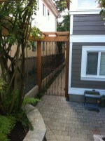 Iron gates interlocking pavers Vancouver