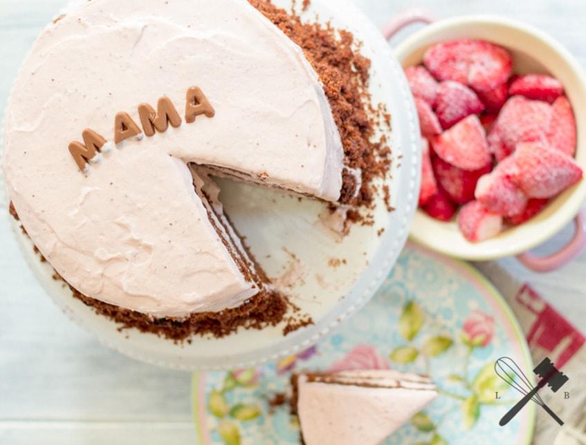 Erdbeer Mousse Schokoladen Torte