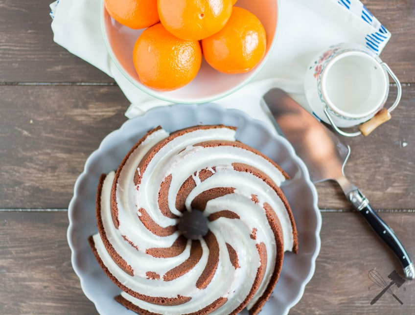 Schokoladen Orangen Gugelhupf