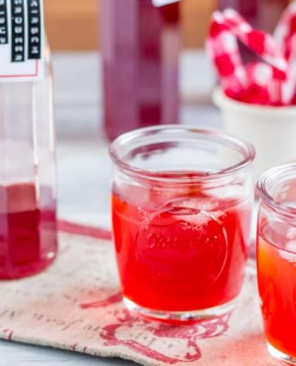 Kirsch Erdbeer Sirup