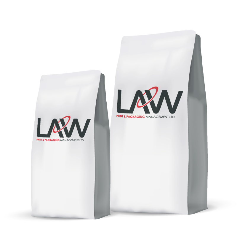 Flat Bottom Bag Law Print Pack