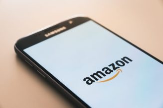 Smart Phone Displaying the Amazon App