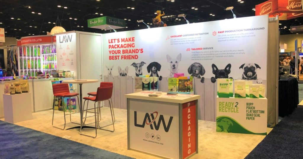 Law Print & Packaging Managements Booth at Global Pet Expo
