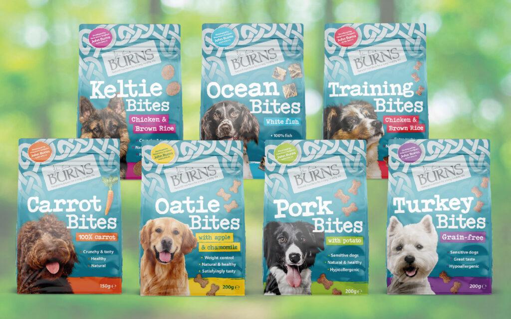 Burns Dog Treats Case Study Portfolio Image