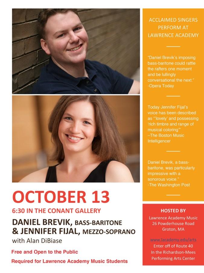 Brevik & Fijal in Conant Gallery: Oct  13 | Lawrence Academy