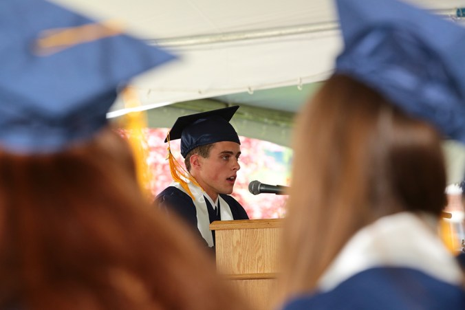 Mullaney at Graduation 2013.