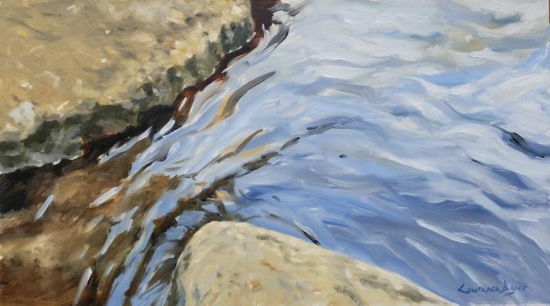 Lawrence Dyer co uk Stepping Stones Dartmeet 50x28cm oil LDSSD020717