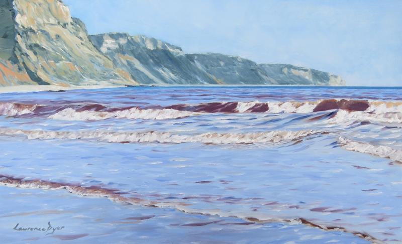 Red Waves Sidmouth by Lawrence Dyer