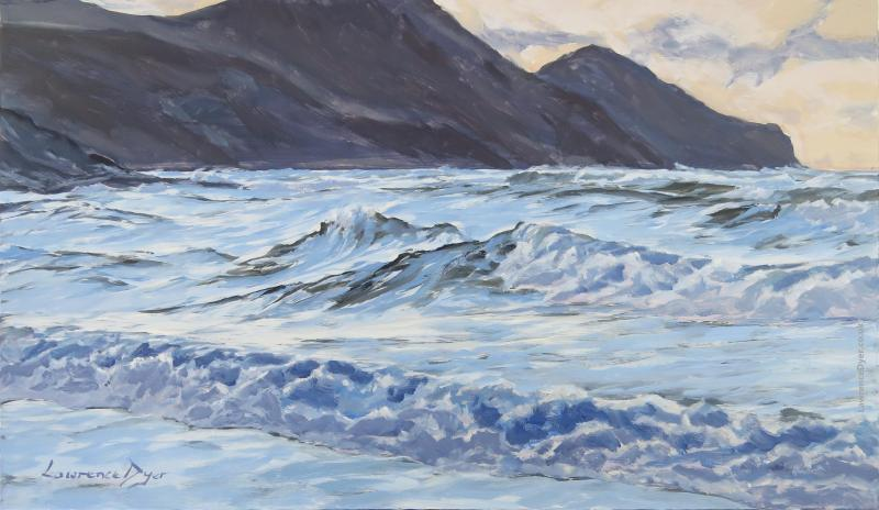 Crackington Haven Choppy Waves by Lawrence Dyer