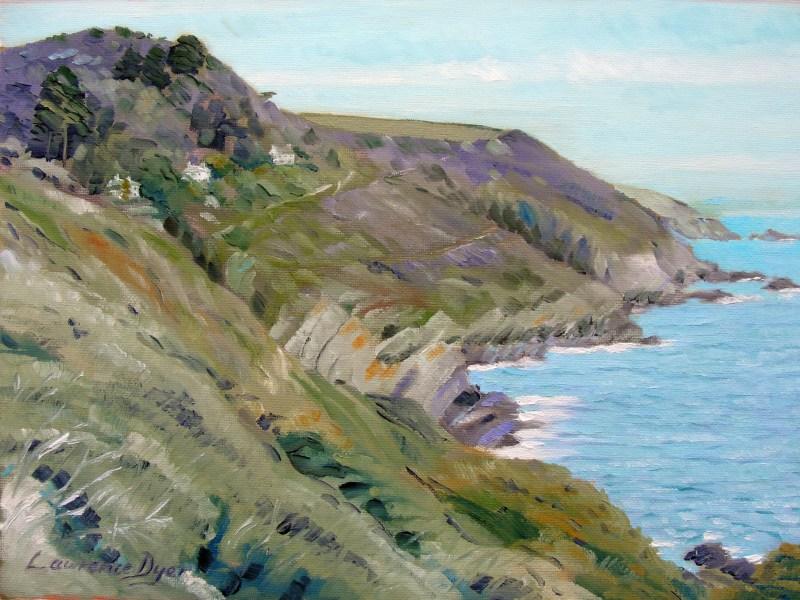 Polperro-Cornwall-oil-painting-art-Lawrence-Dyer-2011