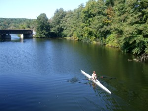 Sculling on Argo Pond