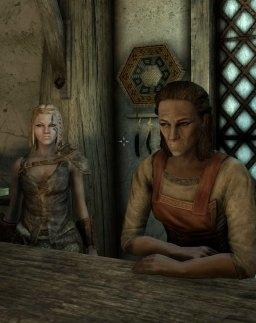 Deirdre helping in Arcadia's shop.