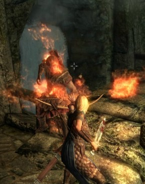 Pic of Deirdre using her first flame spell