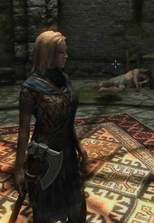 pic of Deirdre in Stormcloak armor