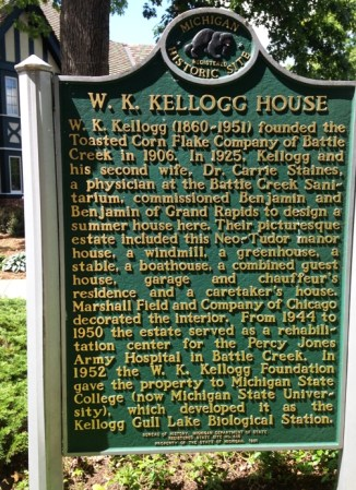 Kellogg House plaque