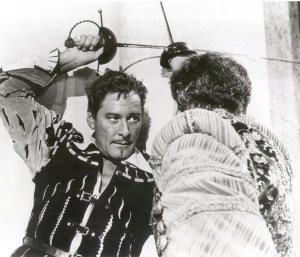 Errol Flynn sword fight image