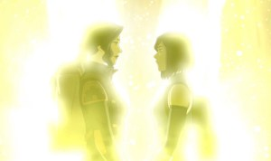 Pic of Korra and Asami