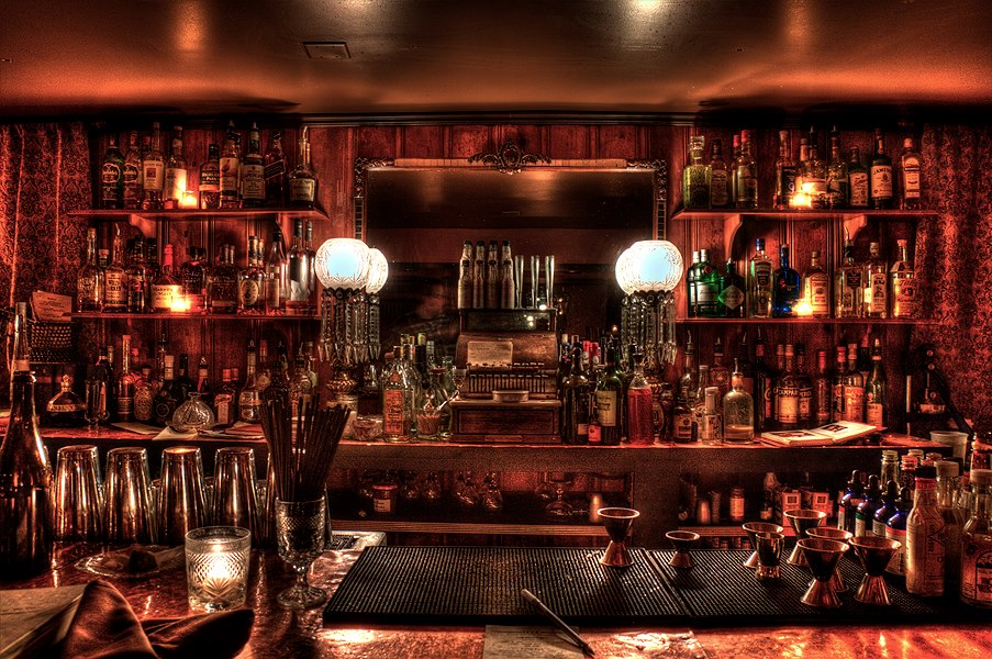 Image of a 1920s bar