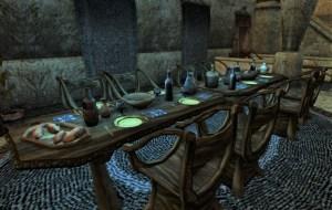 A dunmer dining room