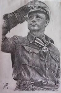 Högel's sketch of his skipper Fritz-Julius Lemp, for whom he always had the highest regard.
