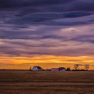 Prairie Sunset, Photography, 28 x 20 matted and framed, $50