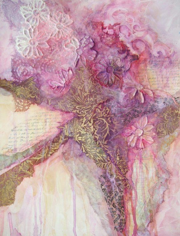 Diane Krempa, After the Rain, collage, 20x24, $375