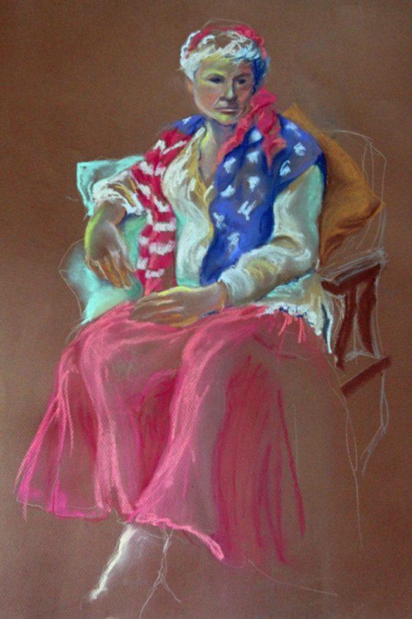 Diane Krempa, In the Spirit of 1776, pastel, 24x30, $375