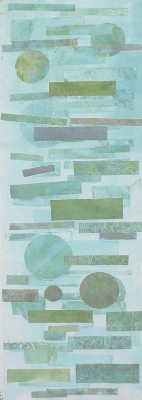 """Laura Whitesides Host, """"Garden Walk Afternoon 2"""", Monotype, 19 X 39, $500"""