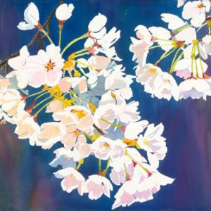 "Sherry Adams Foster, ""Sakura"", watercolor, 33x38, $550"