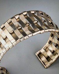 Alice Frank, Sterling silver bracelet, $200