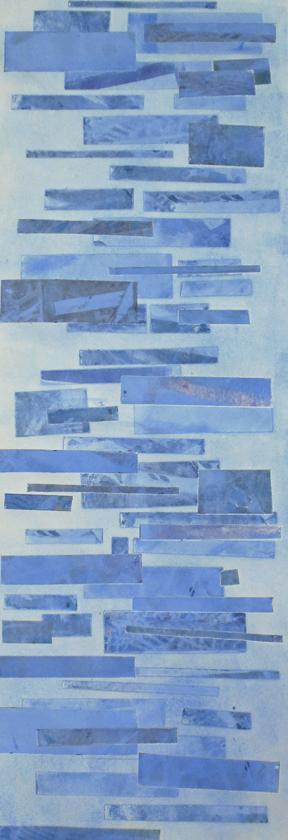 """Laura Whitesides Host, """"Garden Walk Dusk 2"""", Monotype, 19 x 39, $500"""