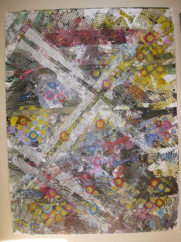 "Carol Izant, ""Rough Road"", 22x30, mm on paper, $400"